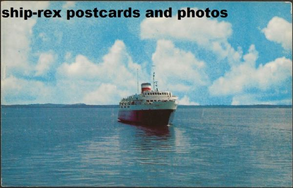 BLUENOSE (1956a, Canadian National) postcard (c)